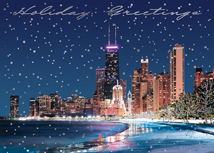 Chicago Lake Front Holiday Cards
