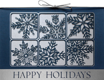 Silvery Snow Laser Cut Holiday Cards